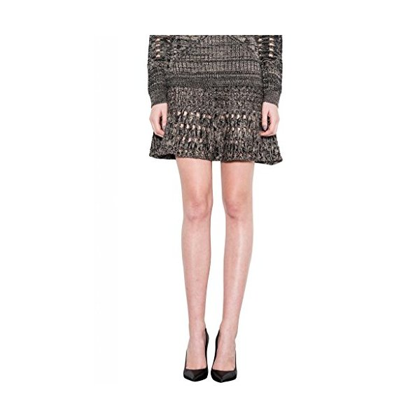 Luna Knit High Waisted Skater Sweater Skirt One Grey Day Women Charcoal Gray-L