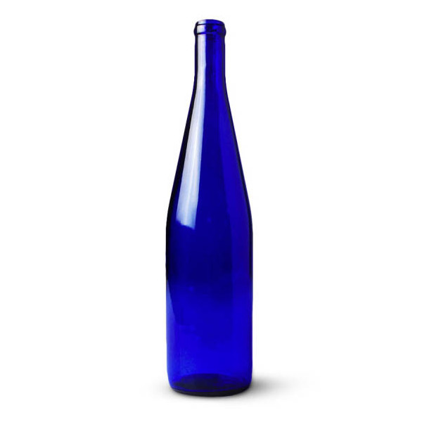 750ml Cobalt Blue California Hock Bottles, 12 per case