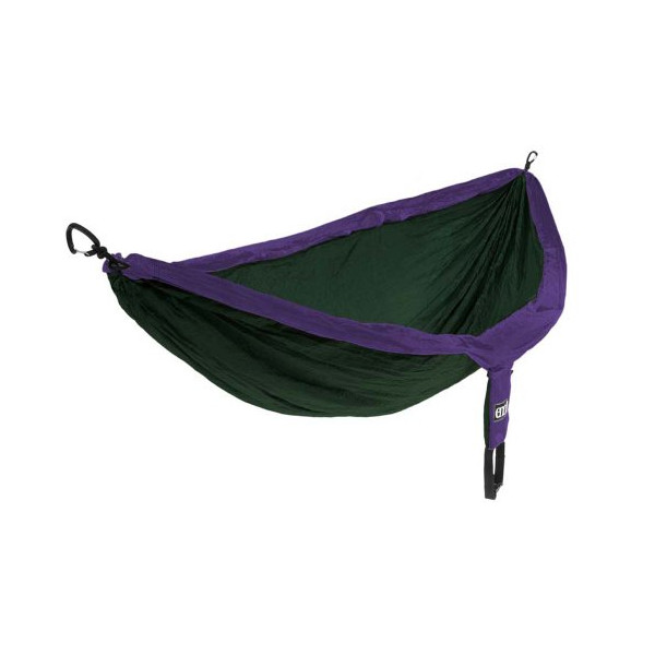 Eagles Nest Outfitters DoubleNest Hammock, Purple/Forest Green