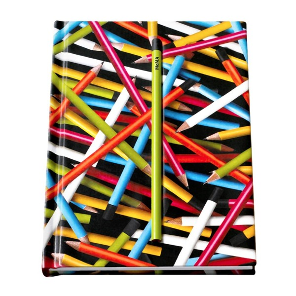 Hidden Pencil Notebook, Colored