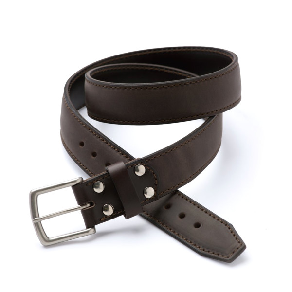 "Saddleback Leather Tow Belt 1.5"" Wide, Dark Coffee Brown"