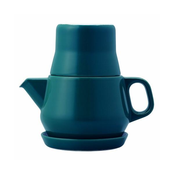 Couleur 3 Piece 0.53 Qt. Teapot Set Color: Turquoise