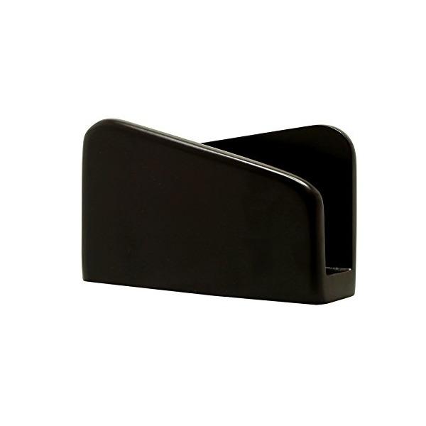 """SouvNear 5.4"""" Wooden Dark Rich Brown Napkin Holder - Modern Decorative Centrepiece Napkin Paper Organizer"""