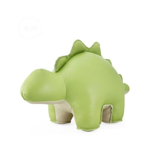 Zuny Stegosaurus (Saru) Animal Bookend - Olive