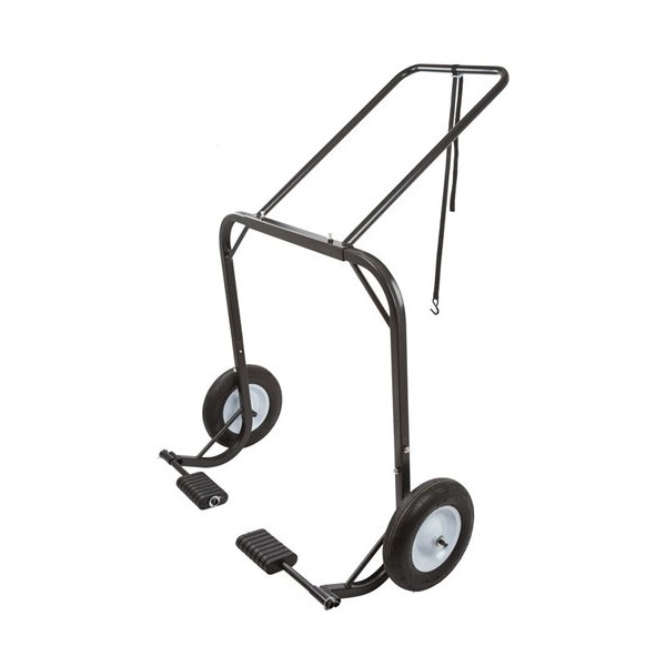Snowmobile Dolly Cart, Hoist & Lift with Large Pneumatic Wheels