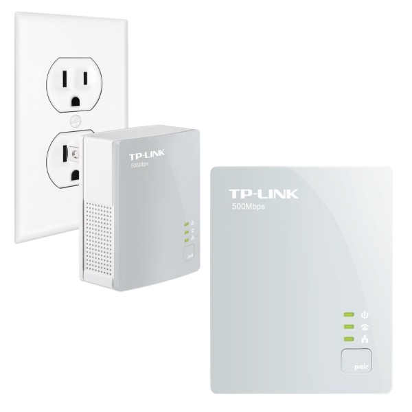 TP-LINK TL-PA4010KIT AV500 Nano Powerline Adapter Starter Kit, up to 500Mbps