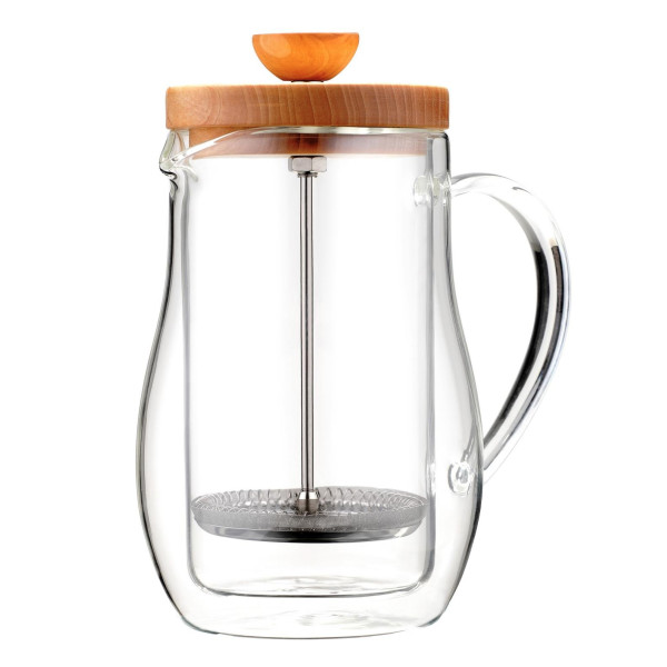 Osaka Cafetiere 6 Cup (27 oz) Double-Walled Borosilicate Glass