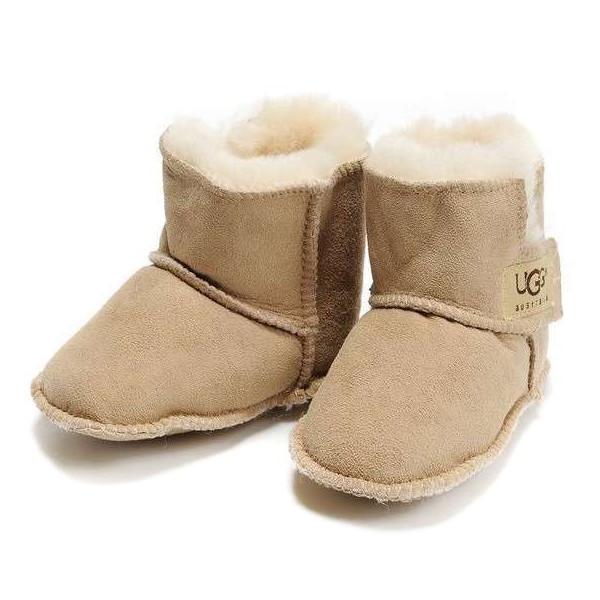 Ugg Australia Baby Erin Sand Sheepskin Booties