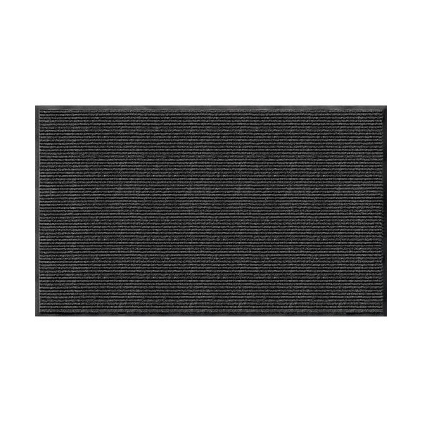 Apache Mills 01-033-1902 Rib Commercial Carpeted Indoor and Outdoor Floor Mat, Pepper, 3-feet by 5-Feet