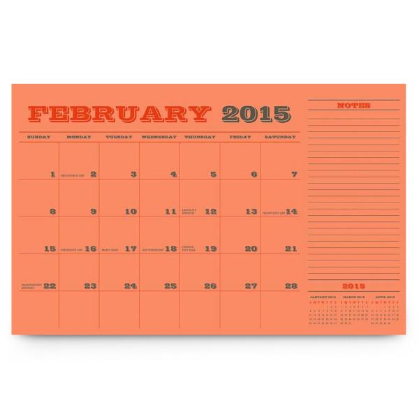 Paper Source 2015 Academic Blotter Calendar, 17 Months