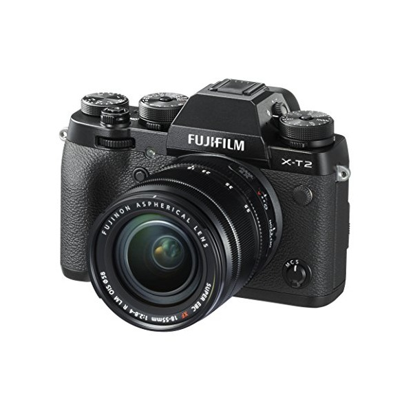 Fujifilm X-T2 Mirrorless Digital Camera with 18-55mm F2.8-4.0 Lens