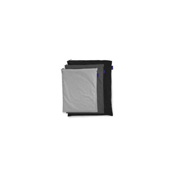 Baggu Set of 3 large zipper bags - Greys