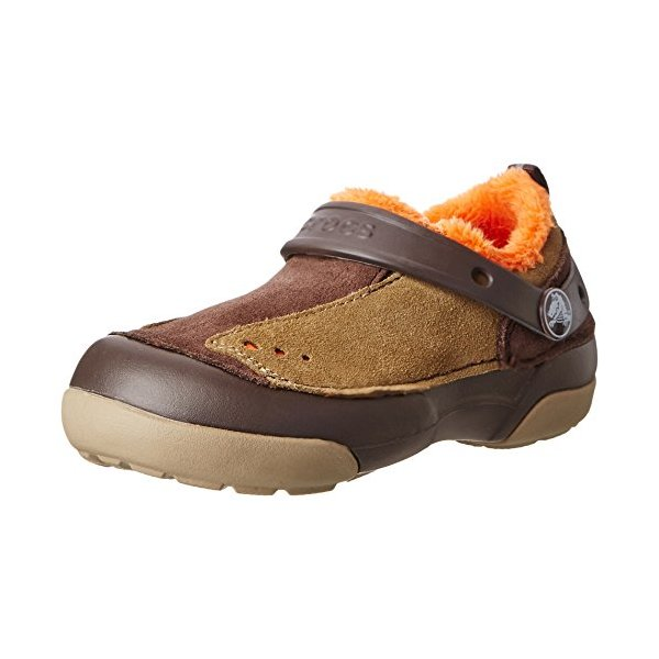 Crocs 15826 Dawson S-O Lined Slip-On (Toddler/Little Kid),Espresso/Khaki,12 M US Little Kid