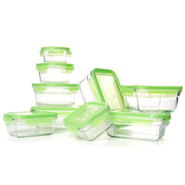 Tempered Glasslock Storage Containers 18pc set