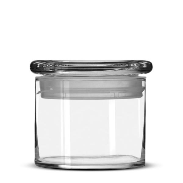 Libbey Cylinder Jar with Glass Lid, 15oz., Set of 6