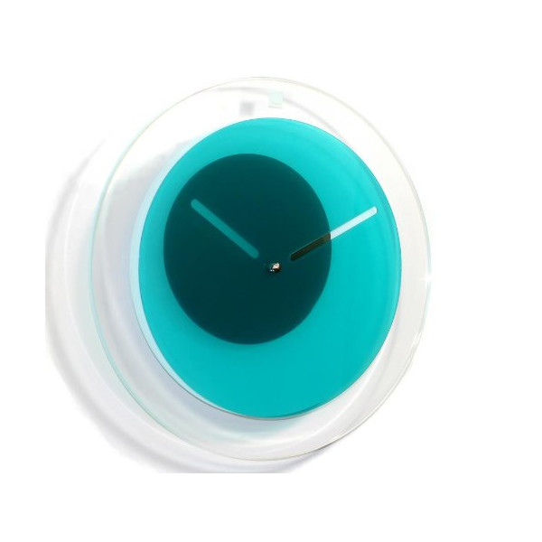 Block Orbit Wall Clock, Teal