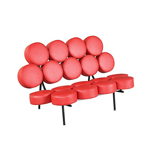 Fine Mod Circle Sofa, Red