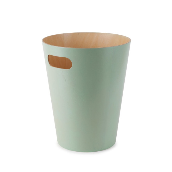 Umbra Woodrow Waste Can, Mint Green