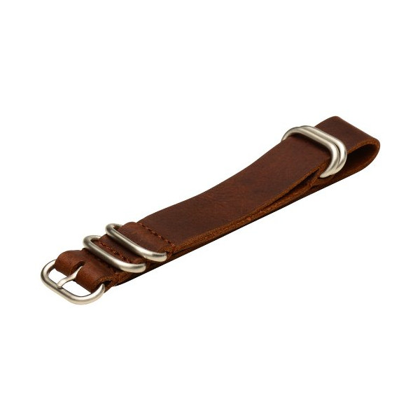 Vintage Brown Leather Nato Watch Strap