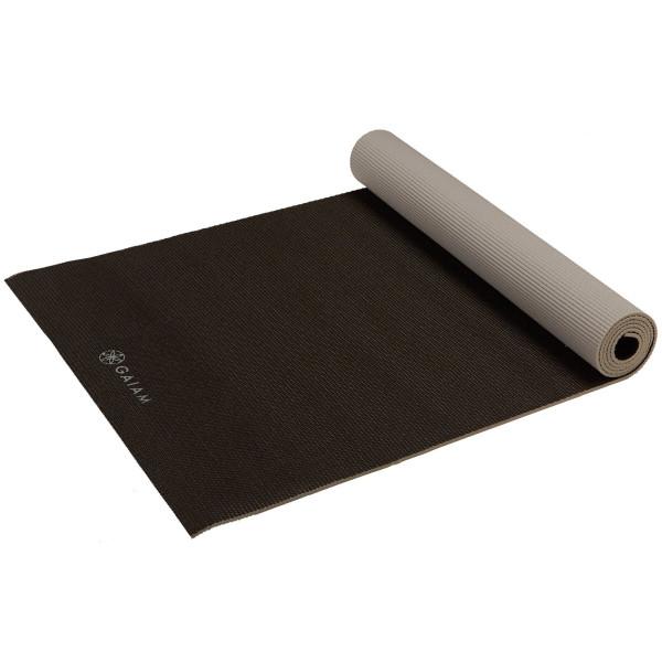 Gaiam Two-Sided Yoga Mat, Granite Storm