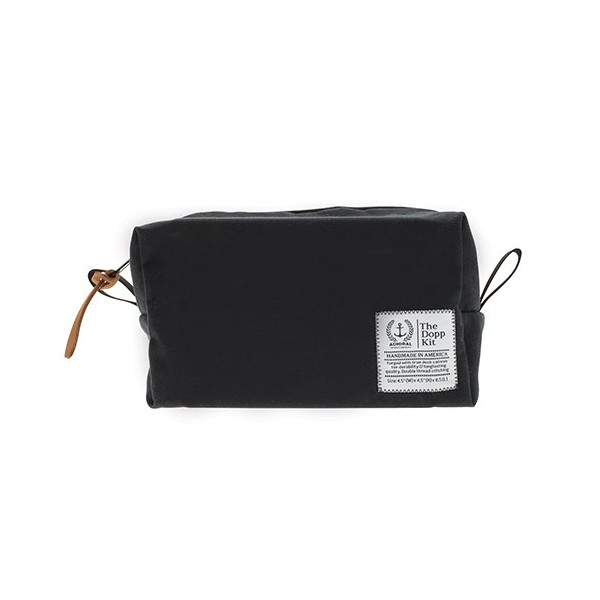 Admiral Waxed Canvas Dopp Kit