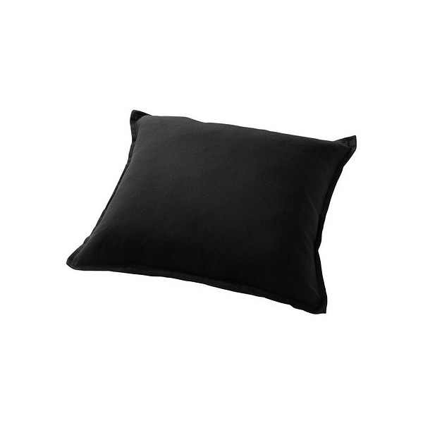 Ikea Gurli Solid Black Throw Pillow Cover Cushion Sleeve NEW 20 X 20""