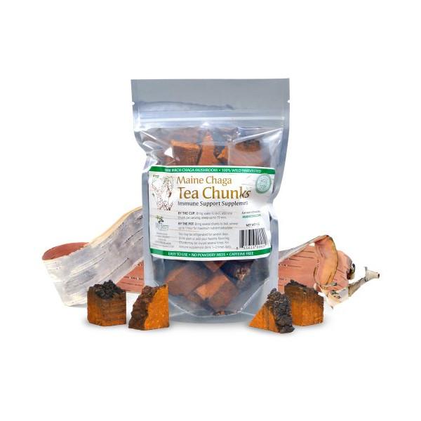 Maine Chaga Tea Chunks, Chaga Extract