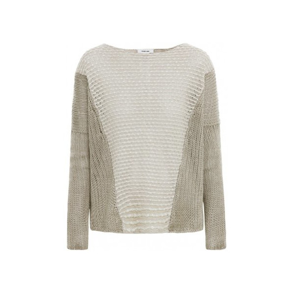 Helmut Lang Women's Boucle Jumper L Gold