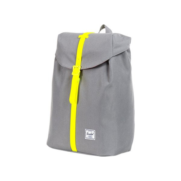 Herschel Supply Co. Post Rubber, Grey/Neon Yellow, One Size