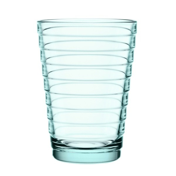 Iittala Aino Aalto Set of Two Glass Tumblers, Water Green, 11 Ounce