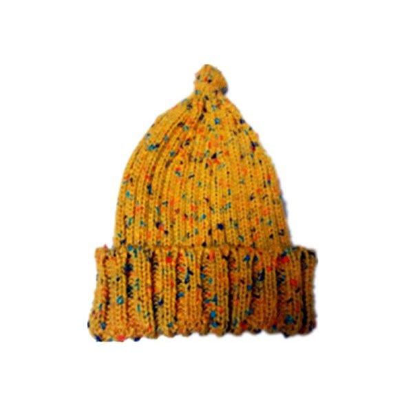 Hii-Yo Women or Men Neutral Colorful Block Warm Weave Knitting Winter Hat Cap Yellow