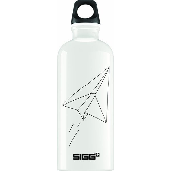 Sigg Paradise Flight Water Bottle, 0.6-Liter, White