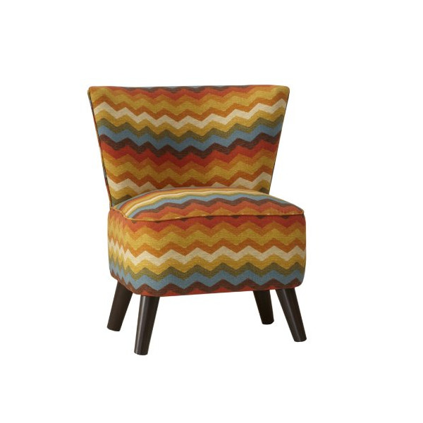 Skyline Furniture Mid Century Modern Chair in Panama Wave Adobe