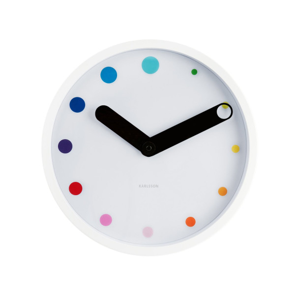 Present Time Karlsson Eclipse Wall Clock, White