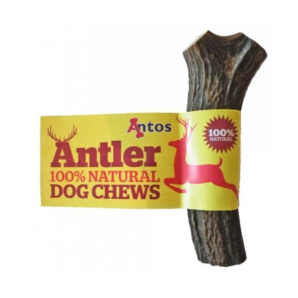 Antos Antler dog chew - Available in 3 sizes - 100% natural ALL SHAPES MAY VARY (Medium 76-150g)
