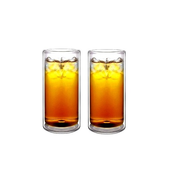 Sun's Tea 16oz Double Wall, Insulated Tumbler Highball Glasses
