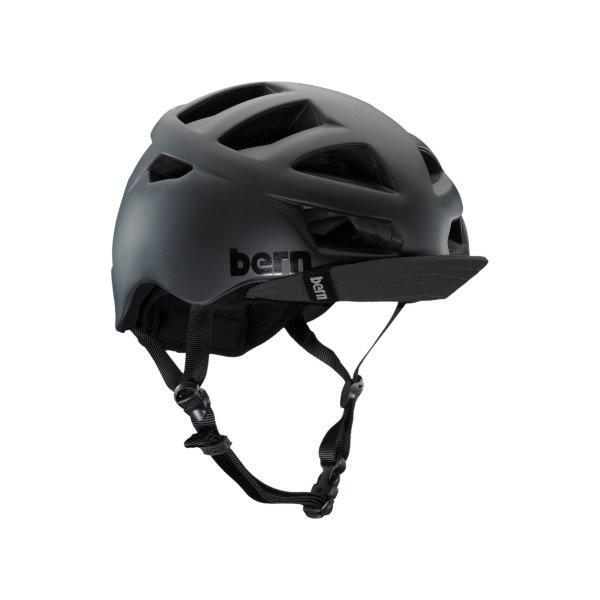 Bern Mens Allston Zipmold Helmet With Visor Matte Black M -Kids