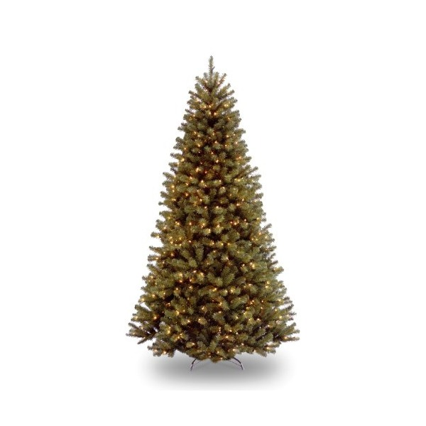 National Tree 7 1/2' North Valley Spruce Tree, Hinged, 550 Low Voltage Dual Color LED Lights with On/Off Switch (NRV7-300LD-75S)