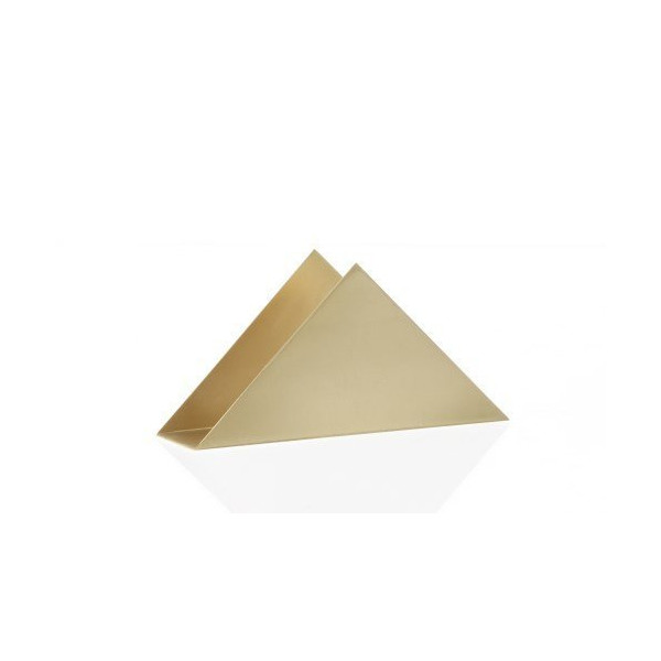 FERM LIVING 4112 Brass Series - Brass Triangle Stand W: 17 x H: 8.5 x D: 4.5 cm