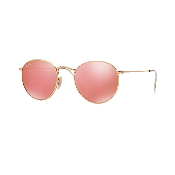 RB 3447 Sunglasses (Gold Frame Mirror Pink Lens)
