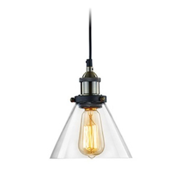 Ecopower Industrial Edison Mini Pendant Hanging lamp Vintage 1-Light Fixture, Antique