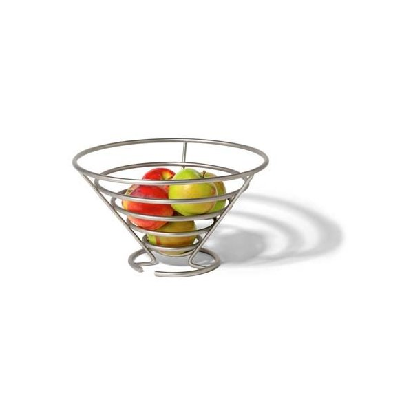 Spectrum 46978 Euro Fruit Bowl, Satin Nickel
