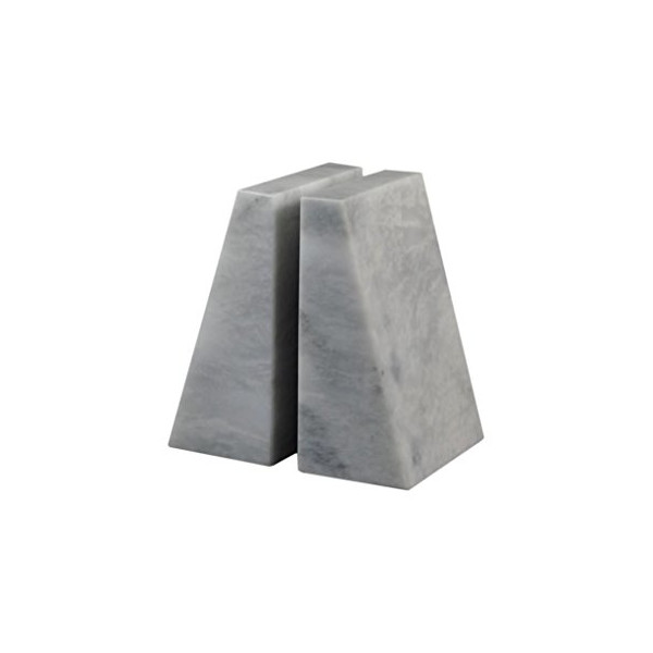 Zeus Bookends Pearl White Marble (PW)