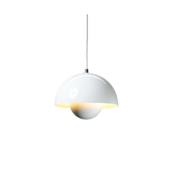 Verner Panton VP1 White Flowerpot Pendant Lamp