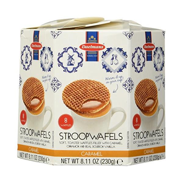 Daelman's Caramel Wafer, Stroopwafel 8.1 OZ