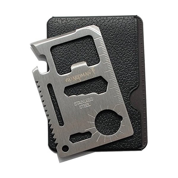 Guardman 11 in 1 Multi Tool Card Survival Credit Card Tool Fits Perfect in Your Wallet with Knife Blade By GuardMan (1)