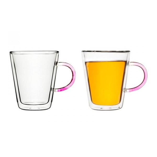 Sagaform Tea Mug Pink, 2-Pack