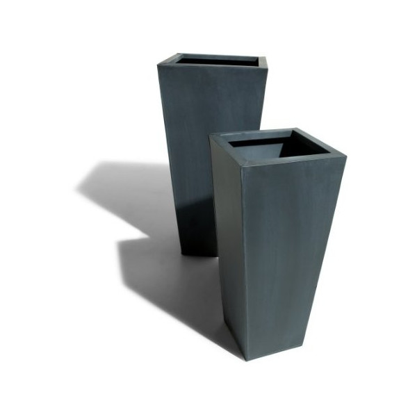 Strathwood Zinc-Finished Planters, Set of 2