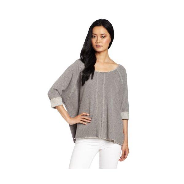 QSW Women's Drapey Pullover, Deep Heather Grey, Medium/Large