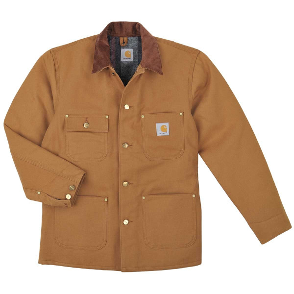 Carhartt Men's Big & Tall Duck Chore Coat, Brown